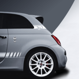 abarth 595 rear c pillar decal