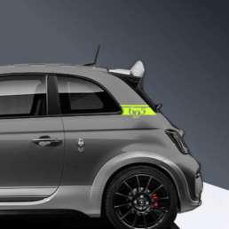 695 c pillar decal for abarth 695 in adrenaline green