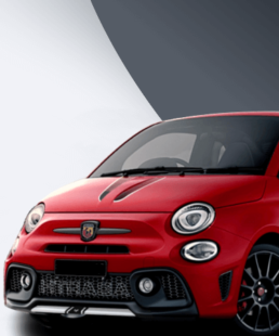 Abarth Tributo Finale Stripes in white in our store right now!