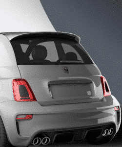 Abarth 500 595 Carbon rear light insert sticker for the abarht 500 buy now at caporace