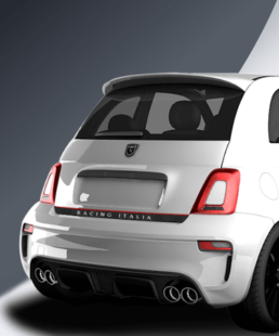 tricolore rear decal for abarth 500 and abarth 595 only in caporace.com