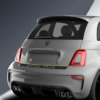 tricolore rear decal for abarth 500 and abarth 595 in adrenaline green