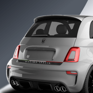 tricolore rear decal for abarth 500 and abarth 595