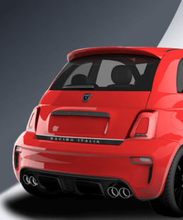 tricolore rear decal for abarth 500 and abarth 595 exclusive here in our shop