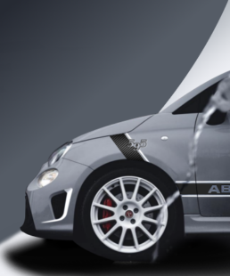 Abarth 595 Side Stickers - Acquista Carbon su caporace.com
