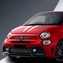 Abarth 500 Tributo stripes in different colours