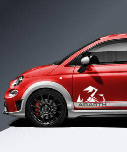 Abarth Pages Extension for your Abarth 595 Side Strips