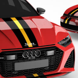 Forza1 median strip is a racing strip for Audi models
